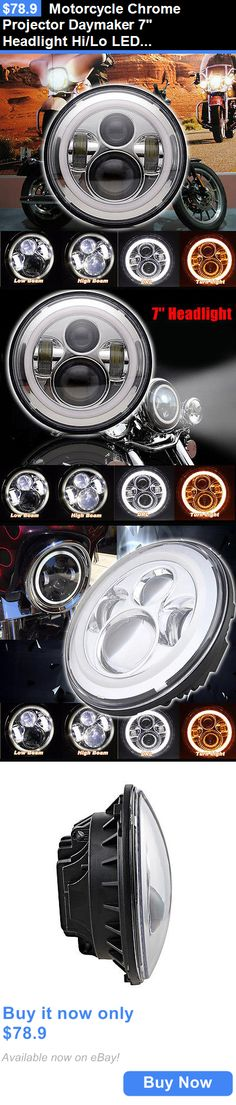 motorcycle parts: Motorcycle Chrome Projector Daymaker 7 Headlight Hi/Lo Led Light For Harley BUY IT NOW ONLY: $78.9