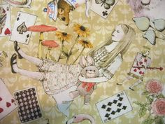 Alice in Wonderland fabric - beautiful!