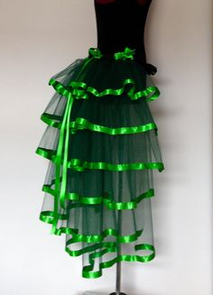 Green Bottle Emerald Green Poison Ivy Burlesque by thetutustoreuk