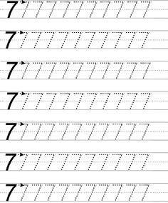7 rakamı yazma gcb Grade R Worksheets, Alphabet Writing Worksheets, Preschool Writing, Numbers Preschool, Preschool Lesson Plans, Kindergarten Worksheets, Tracing Worksheets, Teaching Kids, Teaching Shapes