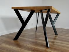 Metal Table Legs also for Round Tables. Steel Table Legs for reclaimed Wood. Iron Table Legs Sturdy Steel Dining Table Legs also for Round Tables. Iron Table Legs, Steel Table Legs, Steel Dining Table, Dining Table Legs, Wood Table, Metal Tables, Metal Legs For Table, Simple Dining Table, Kitchen Tables