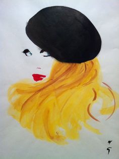 illustration by Rene Gruau Jacques Fath, Pictures To Paint, Art Pictures, Rene Gruau, Museum, Art Courses, Watercolor Sketch, Portrait, Face Art