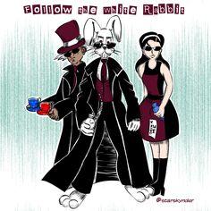Follow the White Rabbit... #whiterabbit #rabbit #matrix #movie #art #artwork #illustration