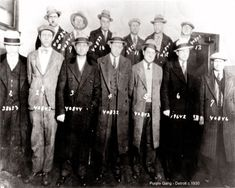 Several members of Detroit's notorious Jewish organized crime organization, the Purple Gang, were arrested for arms violations protecting Detroit drug dealers, on this day in Detroit History, Detroit Art, Detroit Sports, Flint Michigan, Detroit Michigan, Ann Arbor Art Fair, Rock And Roll, The Mitten State, Sports Photos
