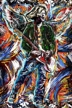 Kurt Cobain Art, Nirvana Painting, Cobain Artwork