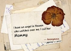 mom is angel in heaven quote