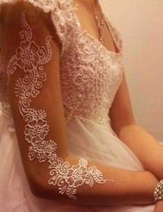 White Henna*Hochzeit Tattoo