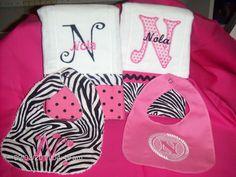Pink and Zebra Baby Set