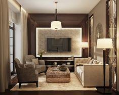 Marchenko&Pazyuk Design Small luxury apartment design. Living room
