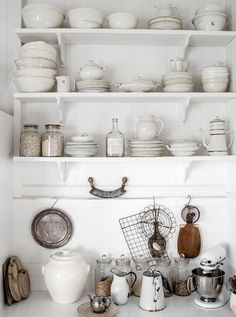 Kitchen inspiration open shelving instead of cabinets with doors