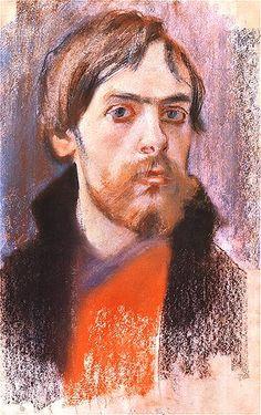 Self Portrait, 1895 by Stanisław Wyspiański on Curiator, the world's biggest collaborative art collection. Selfies, Gouache, Collaborative Art, Famous Artists, Portrait Art, Painting & Drawing, Art History, Art Gallery, Fine Art