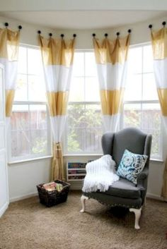 Stylish Living Room Curtains Ideas With Blinds 29