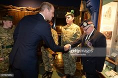 Prince William Duke of Cambridge meets with members of the Army Cadet Force during a visit to Stirling Castle on October 24 2016 in Stirling Scotland...