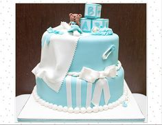 Baby Shower Teddy Bear & Baby Cake