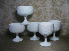 Milk Glass VASE COLLECTION Vintage Wedding 70s by violetsandgrace, $56.00 Milk Glass Vase, Unique Jewelry, Handmade Gifts, Wedding, Etsy, Vintage, Collection, Kid Craft Gifts, Valentines Day Weddings
