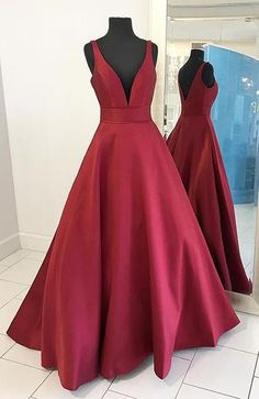 prom dresses,long prom dresses,burgundy prom dresses,fashion prom dresses,v-neck prom dresses,sexy prom dresses