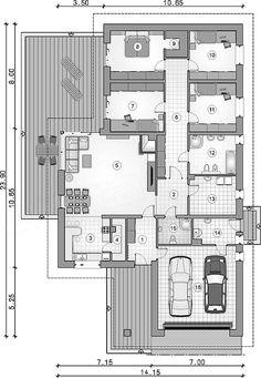 Best House Plans, Dream House Plans, Modern House Plans, 4 Bedroom House Plans, Dream House Exterior, Planer, Bungalow, Architecture Design, New Homes