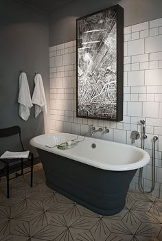 Bathroom, Kate Hume   Interiors - Project: Crosby Design Concept