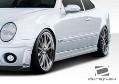 1998-2002 Mercedes CLK W208 Duraflex C63 Look Side Skirts Rocker Panels - 2 Piece