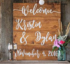Wedding Welcome Sign Wedding Sign Customizable Wedding Sign