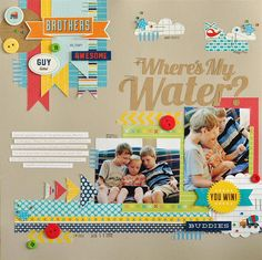 #papercraft #scrapbook #layout Kodak Moments--Ginger Williams