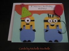 Minion Birthday Wishes - My daughter went to a party and the boy loved minions so we made him a card that celebrated something he really liked