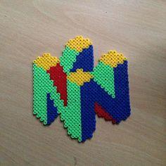 Nintendo logo perler beads by dragoneyes00