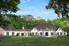 European , French Country , Traditional House Plan 82481 with 5 Beds, 7 Baths, 4 Car Garage Elevation European Plan, European House Plans, European Home Decor, New House Plans, Dream House Plans, House Floor Plans, European Style, Acadian House Plans, French Country House Plans