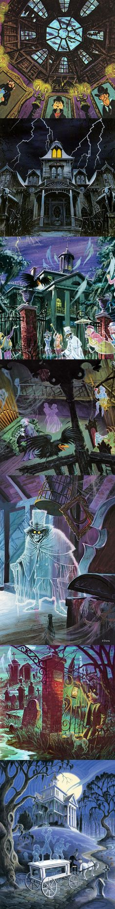 Artwork from Disney's The Haunted Mansion