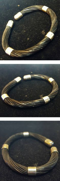 Bracelets 98480: Elephant Tail Hair Bracelet Amulet Blessing Black Ethnic Tribal African Style BUY IT NOW ONLY: $66.0