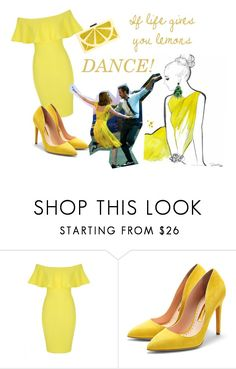 """lemons"" by callmerose ❤ liked on Polyvore featuring Jane Norman, Rupert Sanderson and Alice + Olivia"