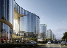 Aedas Unveil Design for an Undulating Office Complex in Central China,Courtesy of Aedas
