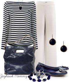"""""""Classic Navy"""" by jayhawkmommy ❤ liked on Polyvore"""
