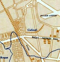An old map of Barrio CuliCuli showing the growing of streets in the