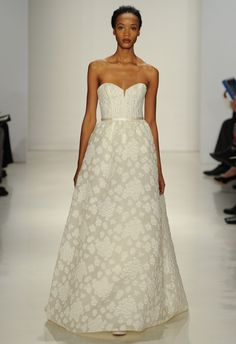 Floral Jacquard Ball Gown | Amsale Fall 2015 Wedding Dresses | Maria Valentino/MCV Photo | Blog.theknot.com