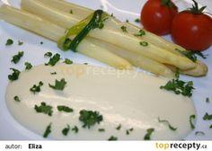 Vařený chřest s jemnou sýrovou omáčkou recept - TopRecepty.cz Celery, Vegetables, Food, Essen, Vegetable Recipes, Meals, Yemek, Veggies, Eten