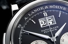 One of my favorite A. Lange & Sohne watch designs of all time is the famous Datograph – and to think the design is over 11 years old now! For 2012 Lange is revisiting the Datrograph with a new and updated model that retains the. High End Watches, Fine Watches, Cool Watches, Rolex Watches, Analog Watches, Luxury Watch Brands, Luxury Watches For Men, Elegant Watches, Beautiful Watches