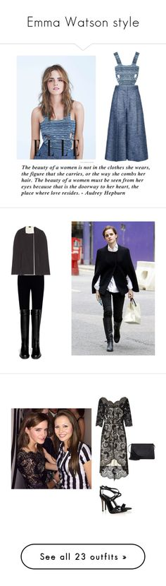 """""""Emma Watson style"""" by alxppt ❤ liked on Polyvore featuring STELLA McCARTNEY, Emma Watson, Joseph, Givenchy, Derek Lam, Lover, Gianvito Rossi, Valextra, Christian Louboutin and Edie Parker"""