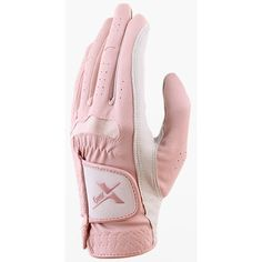 1 Pair Women Two Hands Golf Gloves Pink&White Cabretta Size 18-19-20-21 #Unbranded