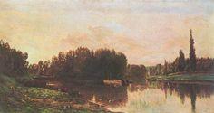 Charles-François Daubigny (French 1817–1878), Mislabelled as Confluence de la Seine et de l'Oise, 1868.