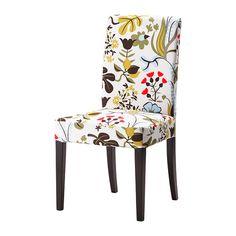 HENRIKSDAL Krzesło IKEA Miękkie siedzisko z watoliny poliestrowej i wysokie oparcie zapewniają wygodę podczas siedzenia.