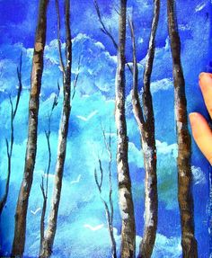 Trees and Sky (A) This weeks lesson is a re-recording of my original which did not save in our video library. Have fun painting this Cathy.  Ginger