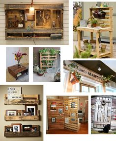 reusing upcycling wooden pallets..... artistic and affordable