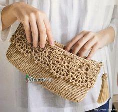 Tecendo Artes em Crochet: Carteira Linda