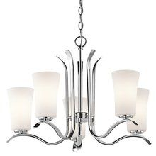 """View the Kichler 43074 Armida Single-Tier  Chandelier with 5 Lights - 72"""" Chain Included at LightingDirect.com."""