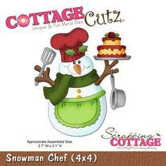 CottageCutz Snowman Chef (4x4)