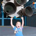 Wish Child Fred has his wish granted to watch the final space shuttle launch!
