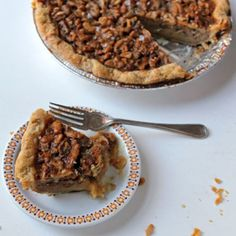 This honey and walnut pie is a wry twist on the usual pecan pie: its deliciously sweet filling is offset by a finishing sprinkle of flaked salt.