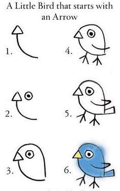 Draw a BIRD...!!!