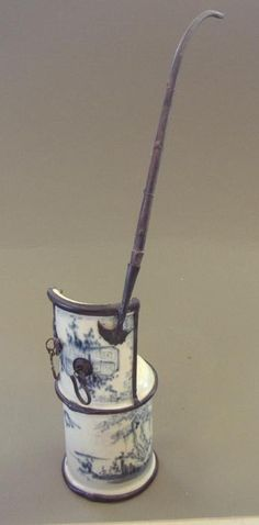 Chinese Porcelain Opium Pipe